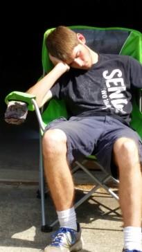 Kyle sleeping