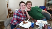 My youngest daughter Sydney's fiancée and my son Kyle!