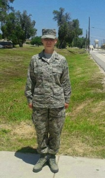 Jessica at graduation from bootcamp