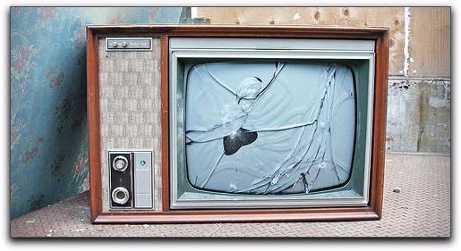 broken consol tv